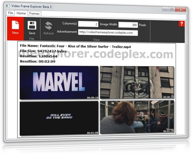 Video Frame Explorer - Imagem 1 do software