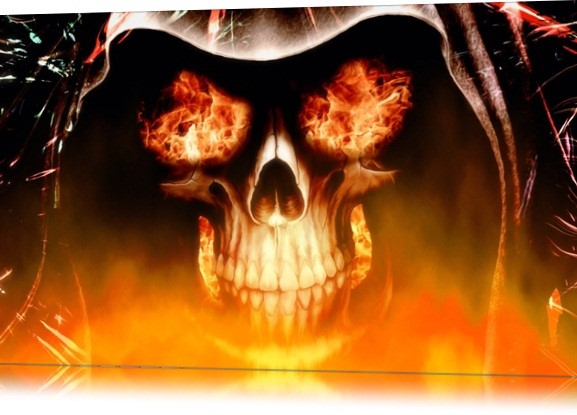 Fire Skull Animated Wallpaper.
