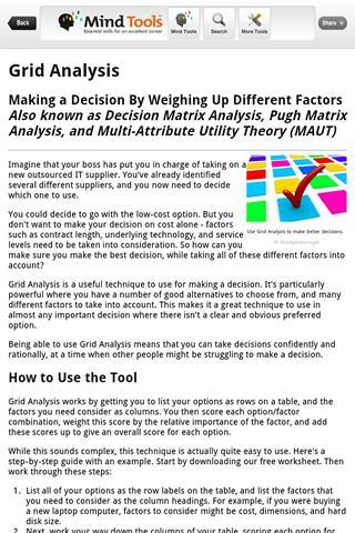 Mind Tools - Imagem 2 do software