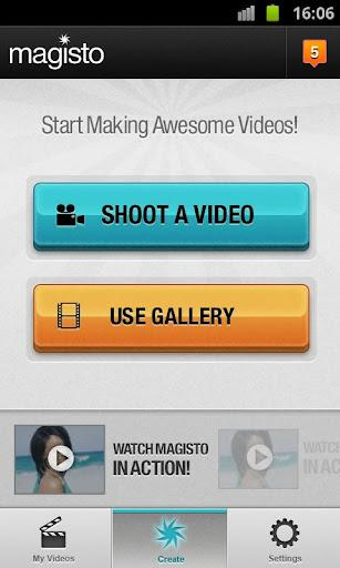 Magisto - Editor Vídeo Mágico - Imagem 1 do software