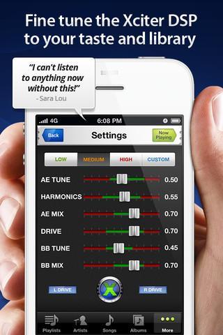 Audio Xciter - DSP Enhanced Music Player - Imagem 1 do software