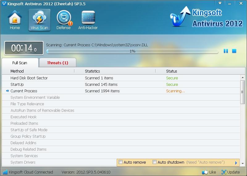 Kingsoft Free Antivirus Download para Windows Grátis