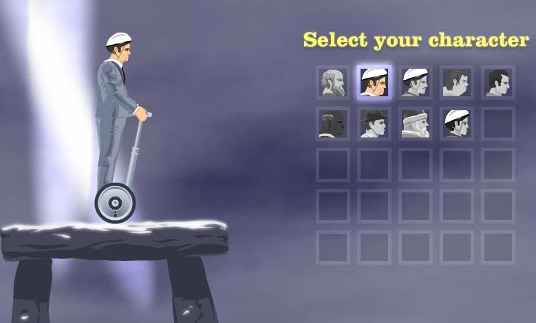 Escolha um personagem para se aventurar no game.