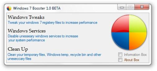 Windows 7 Booster - Imagem 1 do software