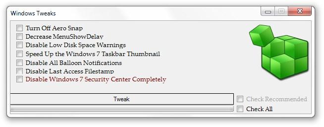 Windows 7 Booster - Imagem 2 do software