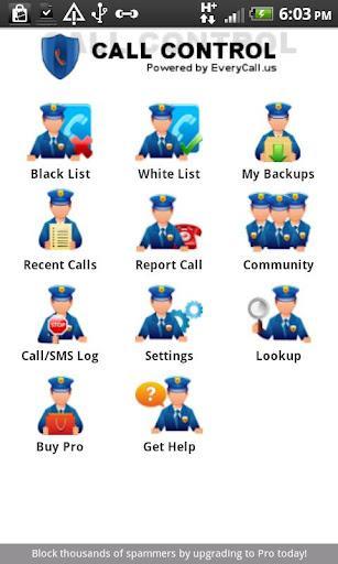 Call Control - Call Blocker - Imagem 1 do software