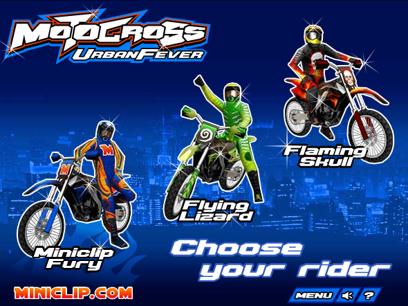 Motocross Urban Fever Play Game, Play Games 3D