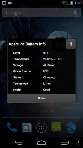 Aperture Battery Widget - Imagem 2 do software
