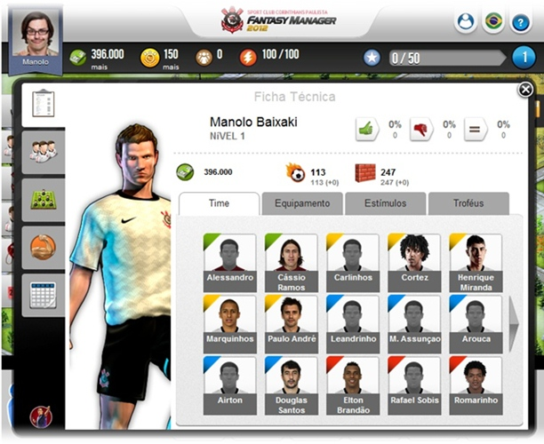SC Corinthians Fantasy Manager - Imagem 2 do software