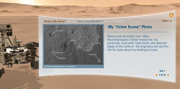 Explore Mars: Curiosity.
