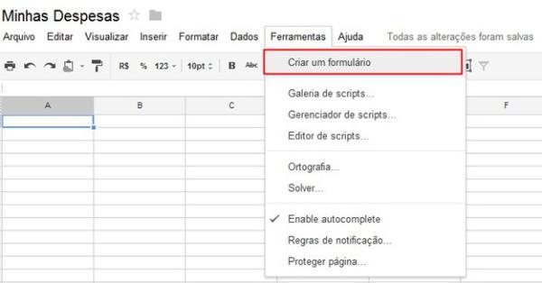 Criando um formulário