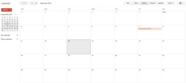 Visualizando o calendário