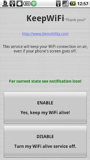 KeepWiFi Locale - Imagem 1 do software
