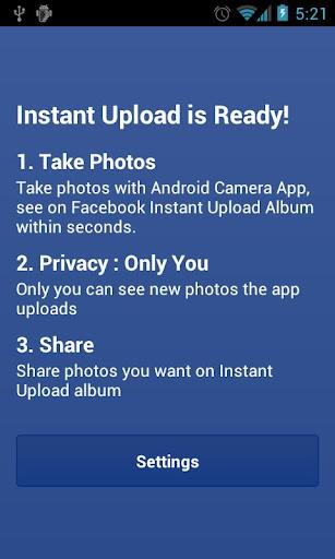 Instant Upload for Facebook - Imagem 1 do software