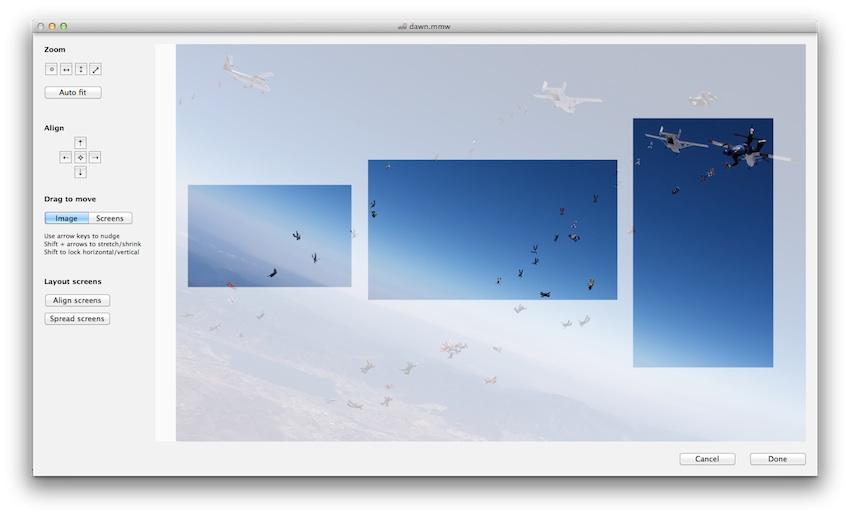 Escolha a imagem e aplique nos monitores
