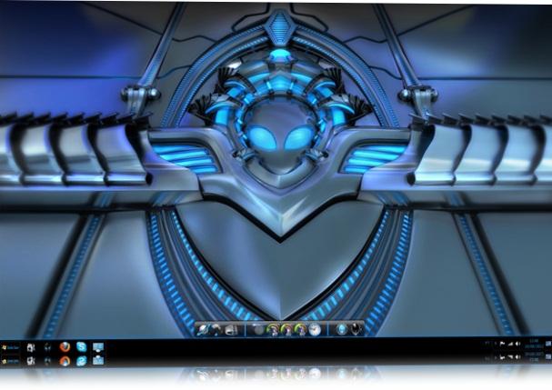 Blue Alienware Windows 7 Skin Pack.