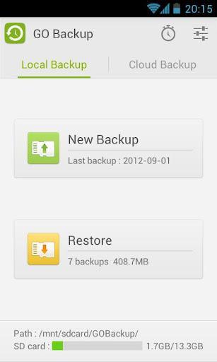 GO Backup & Restore Pro - Imagem 1 do software