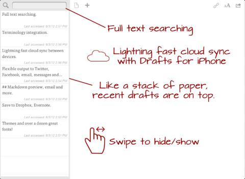 Drafts for iPad - Imagem 1 do software
