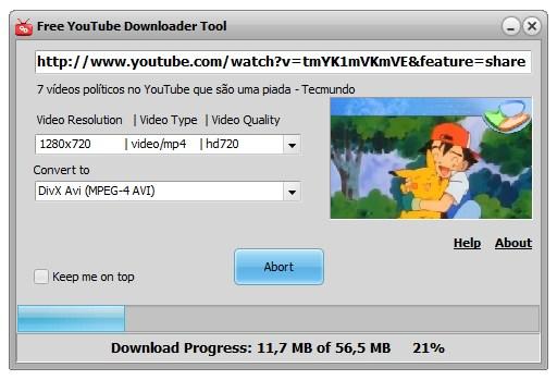 Free YouTube Downloader Tool.