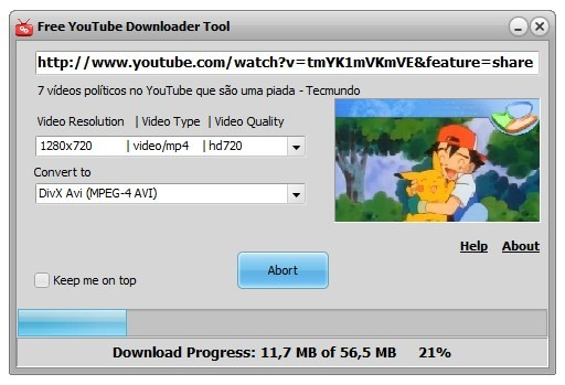 Free YouTube Downloader Tool.