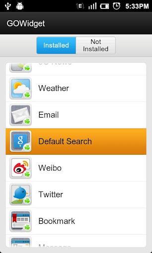 GO Search Widget - Imagem 2 do software