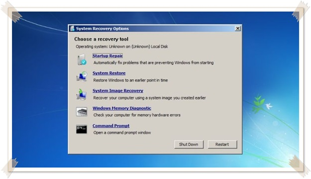 Windows 7 Recovery Disk.
