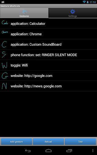 Gesture Shortcuts Launcher - Imagem 1 do software