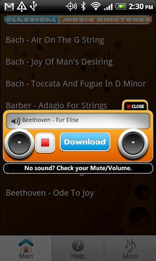 Ringtones de Música Clássica - Imagem 2 do software
