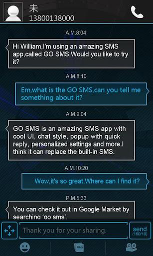 GO SMS Pro Icecream Theme - Imagem 1 do software