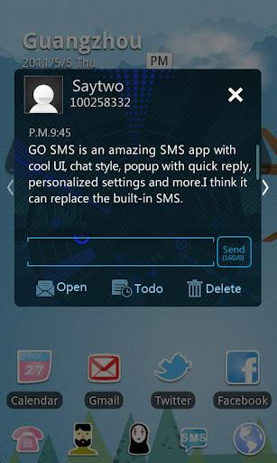 GO SMS Pro Icecream Theme - Imagem 2 do software