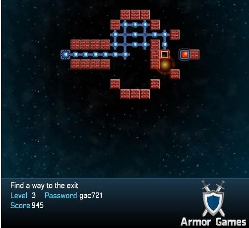 Sua missão é chegar até o portal vermelho.