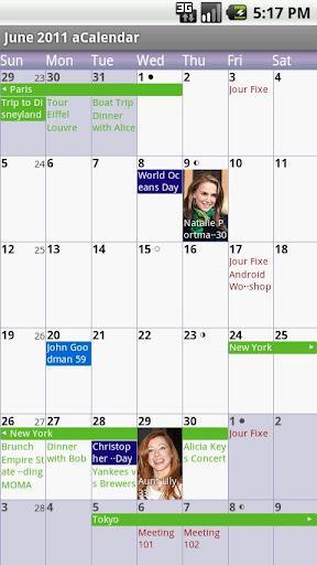 aCalendar - Android Calendar - Imagem 1 do software