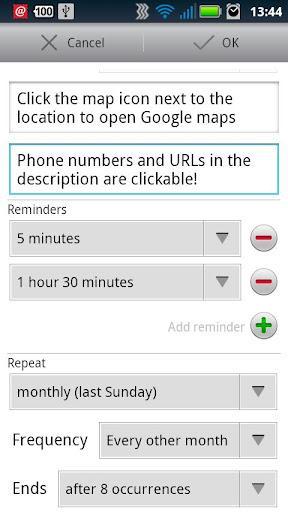 aCalendar - Android Calendar - Imagem 2 do software