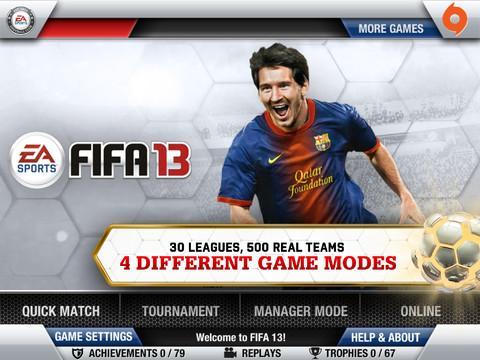 FIFA SOCCER 13 by EA SPORTS para iPhone - Imagem 1 do software