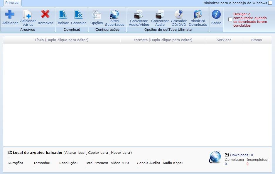 GetTube Download to Windows em Português Grátis