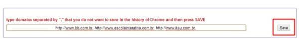 Adicionando as páginas para desabilitar o histórico