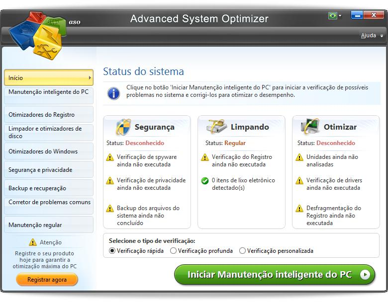 Advanced System Optimizer - Imagem 1 do software