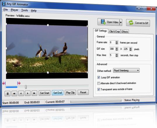 Editando seu GIF