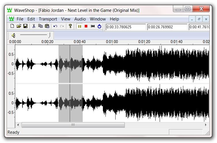 Editando suas faixas em WAV