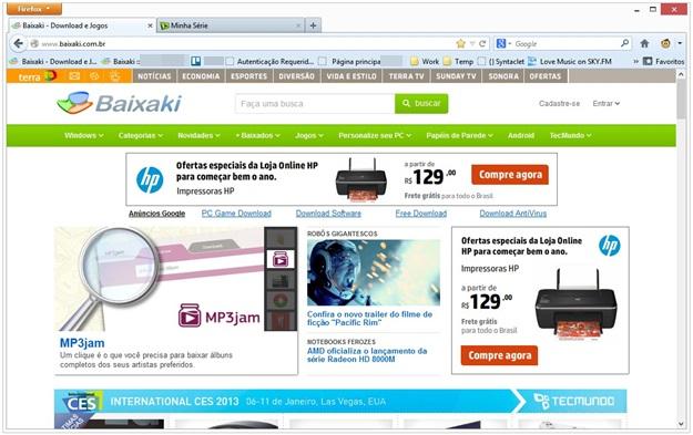 Mozilla Firefox 18.0 Image