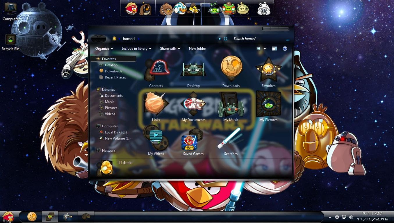 Angry Birds StarWars Windows 7 Skin Pack - Imagem 1 do software