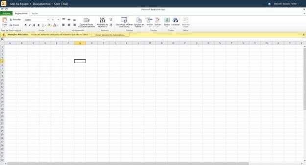 Planilha do Excel