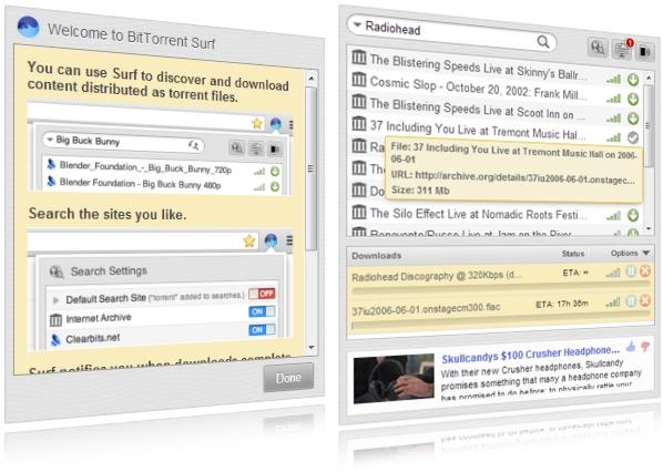 BitTorrent Surf.