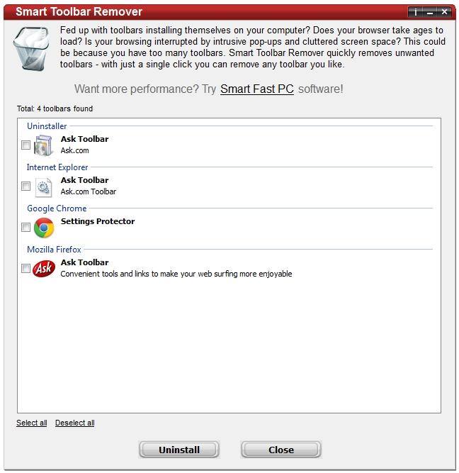 Smart Toolbar Remover.