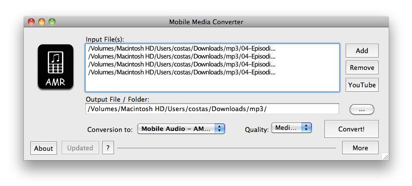 Mobile Media Converter - Imagem 2 do software