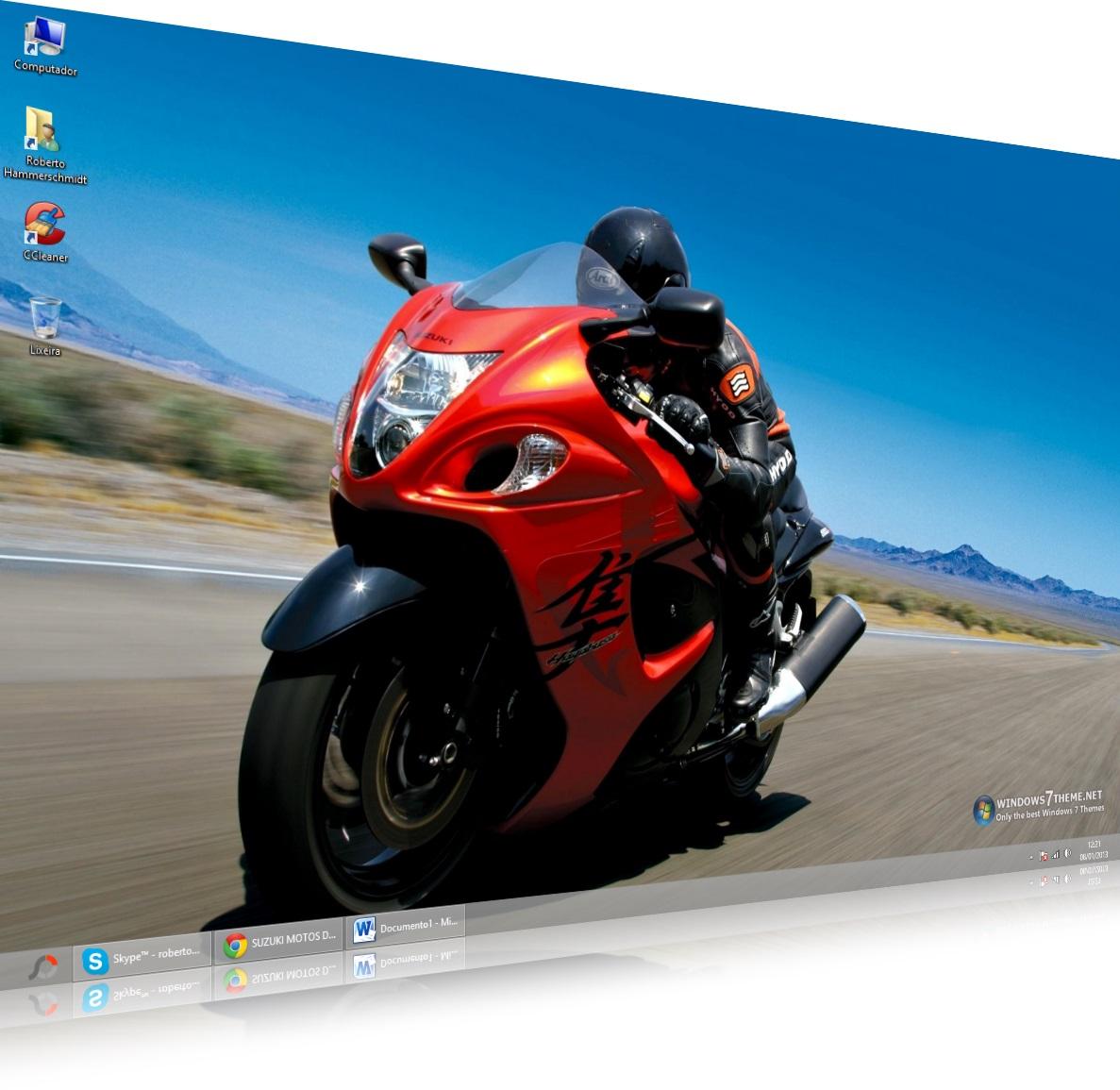 Suzuki Hayabusa Windows 7 Theme - Imagem 1 do software