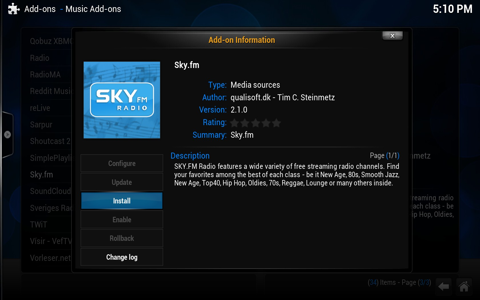 XBMC Media Center Download para Windows em Português Grátis