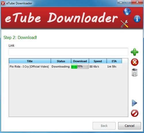 eTube Downloader - Imagem 1 do software
