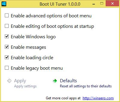Boot Menu Tuner - Imagem 1 do software