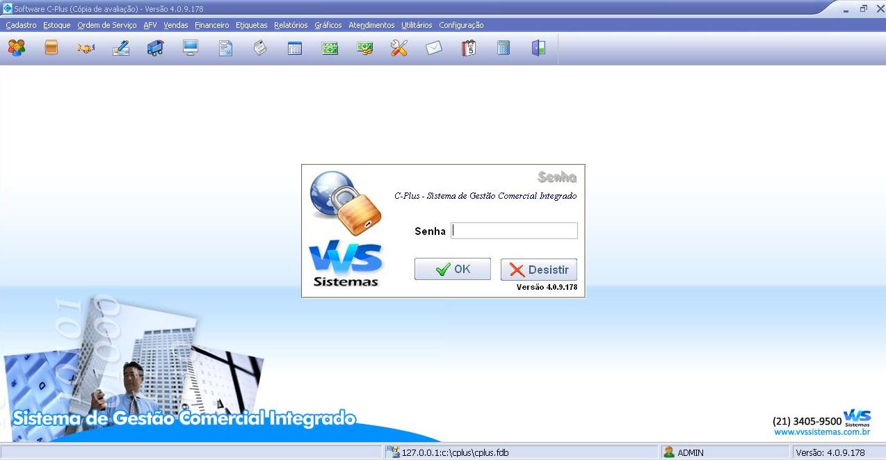C-Plus - Sistema de Gestão Comercial Integrado - Imagem 1 do software